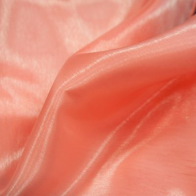 Silk Organza Fabric - Coral