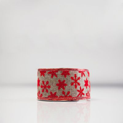 Christmas Flock Ribbon - D2