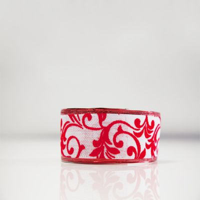 Christmas Flock Ribbon - D3