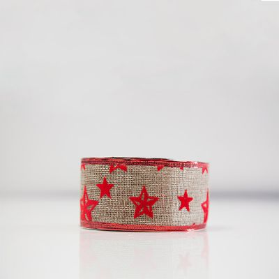 Christmas Flock Ribbon - D4