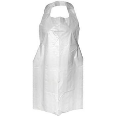 HEALTHGUARD DISPOSABLE POLYETHENE APRONS PACK OF 100 WHITE