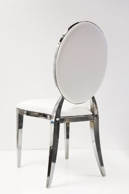 Dior Chair - White/Silver
