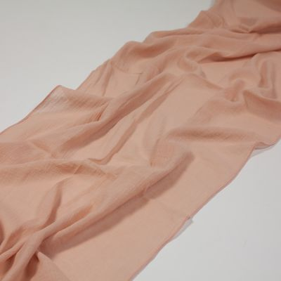 Cheesecloth Table Runner Dusky Pink