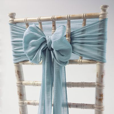 CHEESECLOTH SASH DUSTY BLUE
