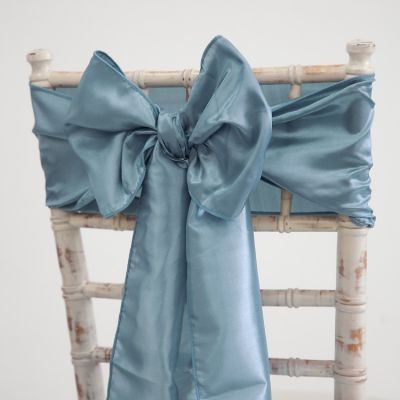 Taffeta Sash - Dusty Blue