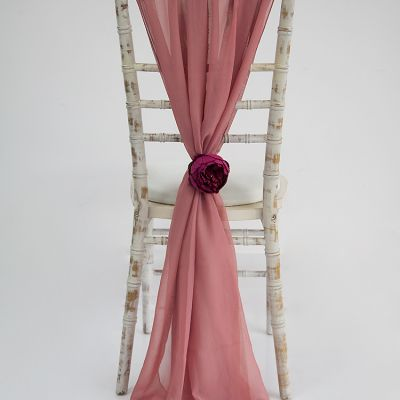 Chiffon Vertical Drops - Dusty Rose
