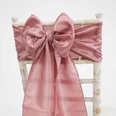Taffeta Sash - Dusty Rose