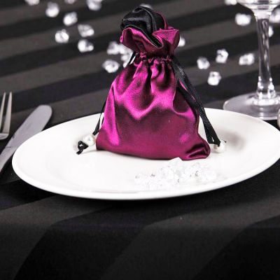 Satin Favour Bags - Fuschia