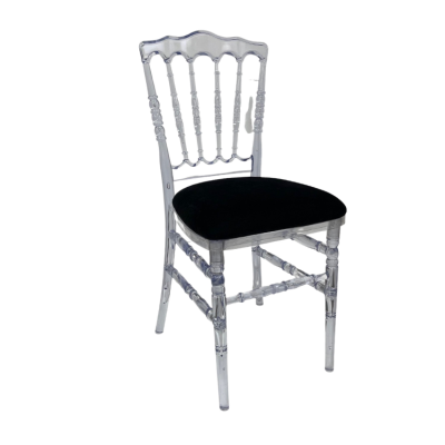 NAPOLEON GHOST CHAIR WITH BLACK SEAT PAD