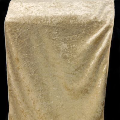 Crushed Velvet Table Runner 35CM X 275CM - Gold