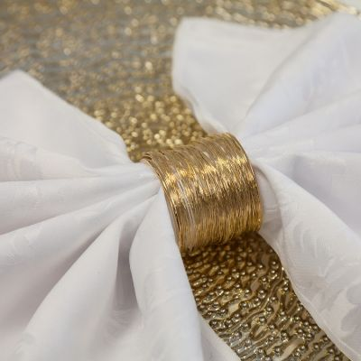 GOLD WIRE NAPKIN RING 06 PACK 5588-01 GOLD