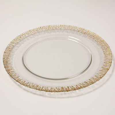 GLITTER RIMMED CHARGER PLATE GOLD