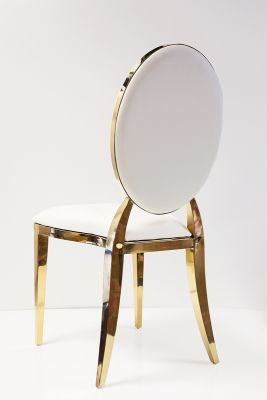 Dior Chair - White/Gold
