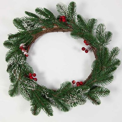 CHRISTMAS FROSTED BERRY WREATH