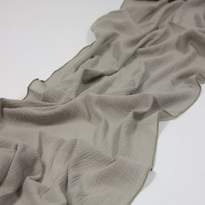 CHEESECLOTH TABLE RUNNER LIGHT GREY