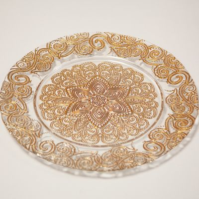 Charger Plate Royal Design - Gold 0294