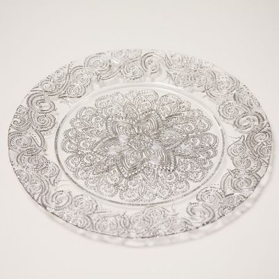 Charger Plate Royal Design - Silver 0294