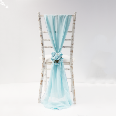 Chiffon Vertical Drops - Pale Blue