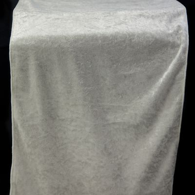 Crushed Velvet Table Runner 35CM x 275CM - Ivory