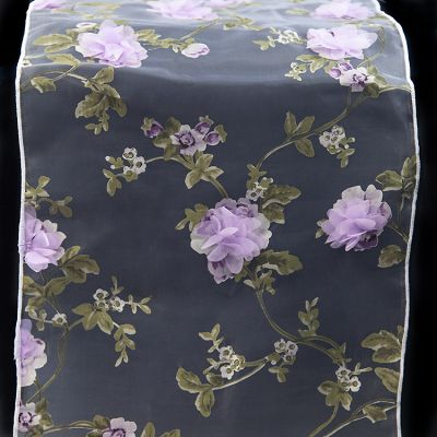 Blossom Organza Table Runner - Lilac