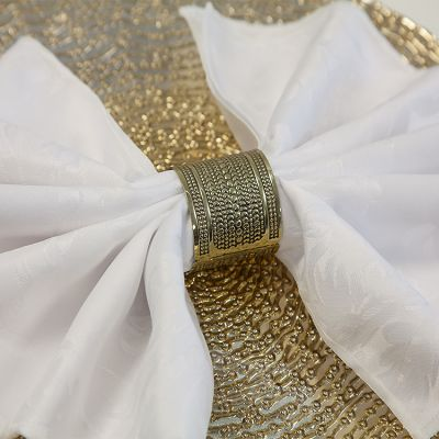 Lux Napkin Rings 07 Antique Gold - 6 Pack
