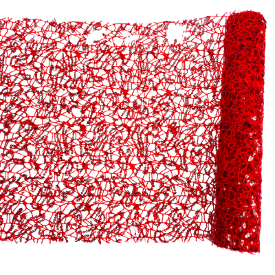 SEQUIN MESH ROLL RED