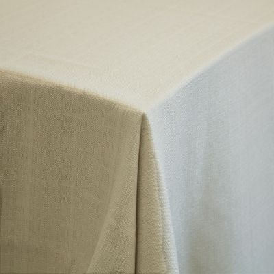 "PREMIUM LINEN TABLECLOTH 132"" WHEAT"