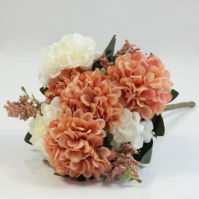 HYDRANGEA BUNCH NO 08 AUTUMN/IVORY