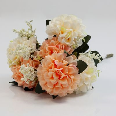 HYDRANGEA BUNCH NO 08 IVORY/PEACH
