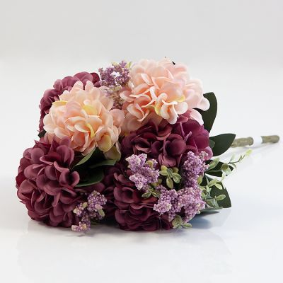 HYDRANGEA BUNCH NO 08 PEACH MUAVE