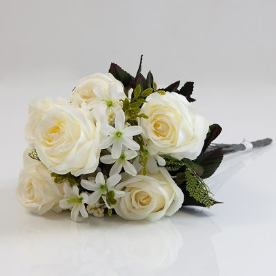 Magnolia Rose Bunch NO 09 Ivory
