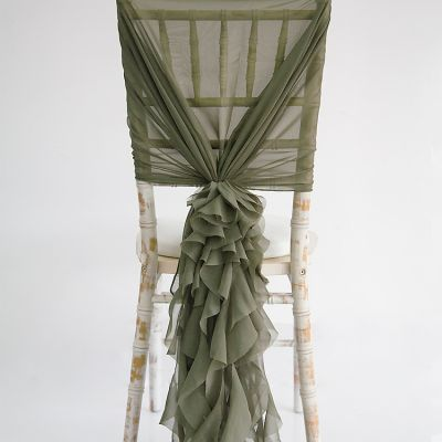 Chiffon Hood with Ruffles - Burnt Olive