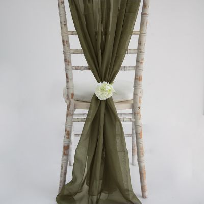 Chiffon Vertical Drops - Burnt Olive