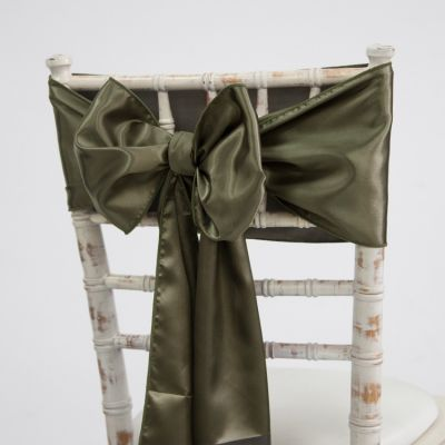 Satin Sash - Burnt Olive