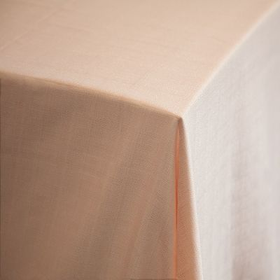 "Premium Linen Tablecloth 132"" Peach"