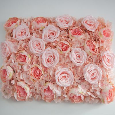 Mixed Flower Wall Panel 40cm x 60cm - Pink