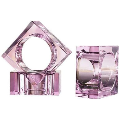 CRYSTAL NAPKIN RINGS PACK OF 12 PINK