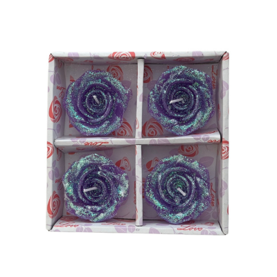 ROSE GLITTER FLOATING CANDLES 4 PACK