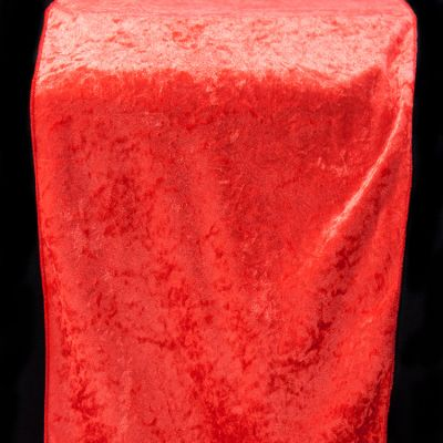 Crushed Velvet Table Runner 35CM x 275CM - Red