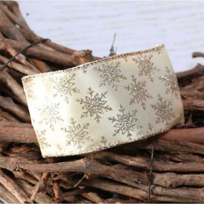 LUXURY SNOWFLAKE RIBBON GOLD