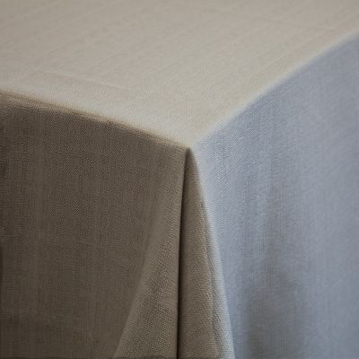 PREMIUM LINEN TABLECLOTH 70 X 144 STONE GREY