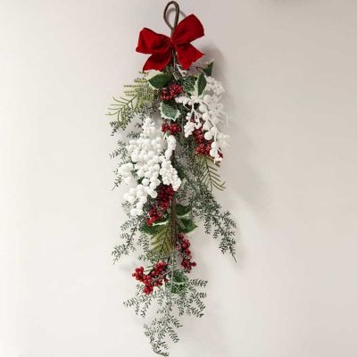 FESTIVE BERRY SWAG WREATH