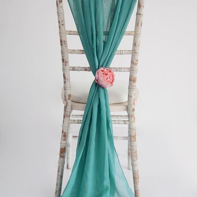 Chiffon Vertical Drops - Teal