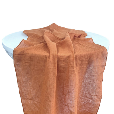 CHEESECLOTH TABLE RUNNER TERRACOTTA