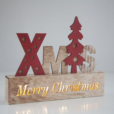 LED Wooden Xmas Sign