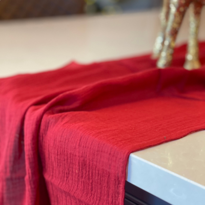 Cheesecloth Table Runner Garnet