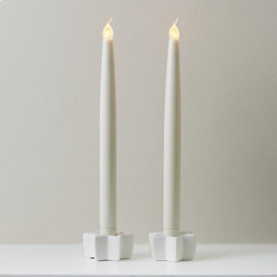 LED Taper Candles - Pack of 2
