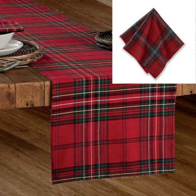 TARTAN TABLE RUNNER & NAPKIN SET