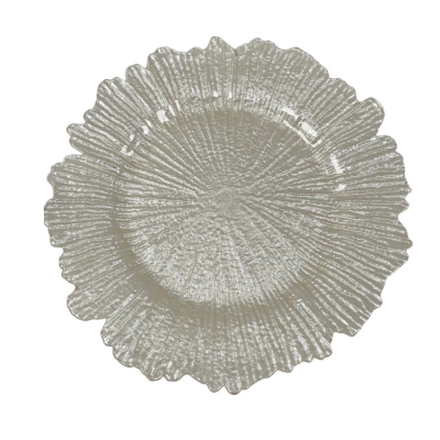 REEF DESIGN CHARGER PLATE - IVORY