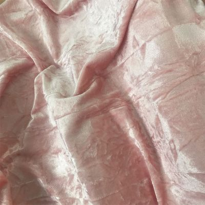CRUSHED VELVET FABRIC 150CM WIDE - BLUSH PINK